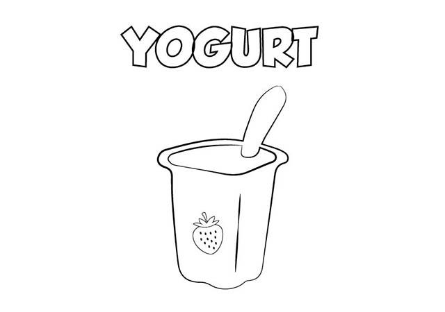 Colorear Dibujo Yogurt para imprimir ⋆ Colorear e Imprimir
