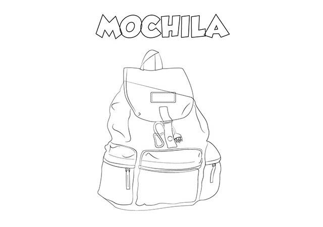 dibujo colorear mochila