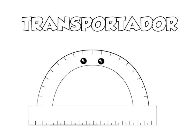 dibujo colorear transportador
