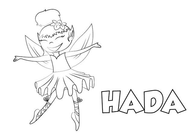 Dibujo Hada para Imprimir y Colorear
