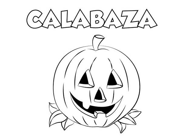 90 dibujos de calabazas de halloween para recortar - Calabaza halloween para colorear ...