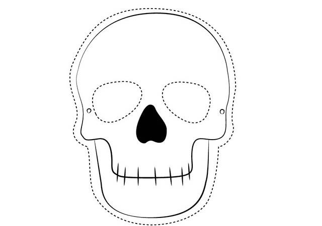 Colorear Dibujo Mueca Halloween para imprimir  Colorear e Imprimir