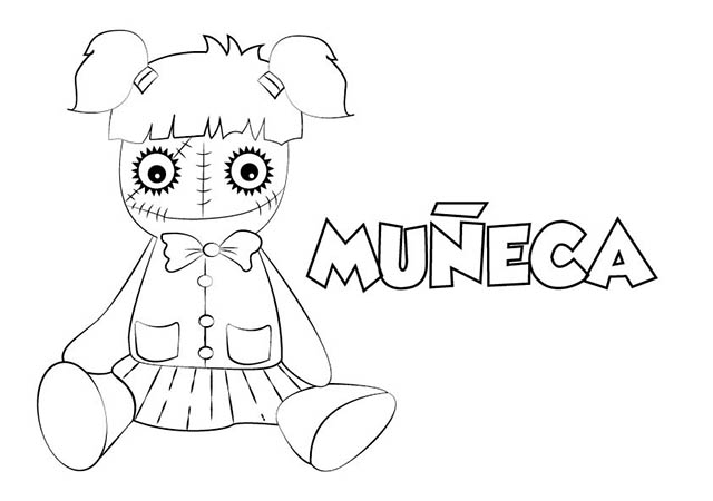 Colorear Dibujo Muñeca Halloween para imprimir ⋆ Colorear ...