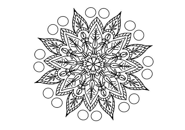 Dibujos Para Imprimir Y Colorear Mandalas: Dibujo Mandala Tipo 2 Para Imprimir Y Colorear