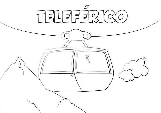 Dibujo Globo Aeroestático para Imprimir y Colorear