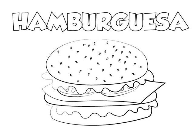 Dibujo Hamburguesa Para Imprimir Y Colorear