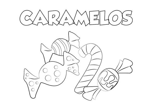 Dibujo Caramelos Para Imprimir Y Colorear