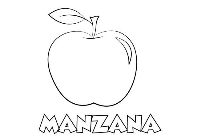 Colorear Dibujo Manzana para imprimir ⋆ Colorear e Imprimir