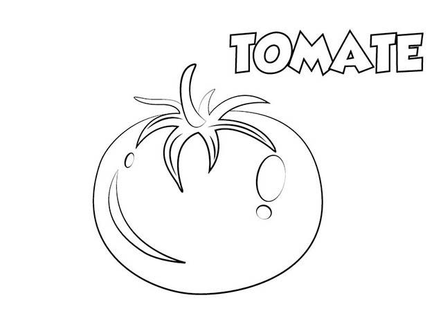 Colorear Dibujo Tomate para imprimir ⋆ Colorear e Imprimir