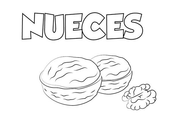 Dibujos De Frutos Secos ⋆ Colorear E Imprimir