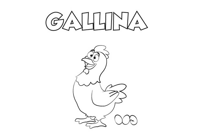 Dibujo Gallina Para Imprimir Y Colorear