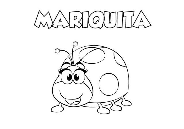 Colorear Dibujo Mariquita Para Imprimir Colorear E Imprimir