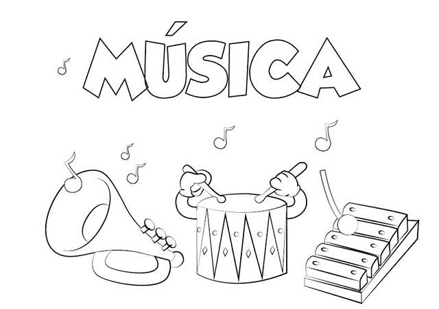 Colorear Dibujo Música para imprimir ⋆ Colorear e Imprimir