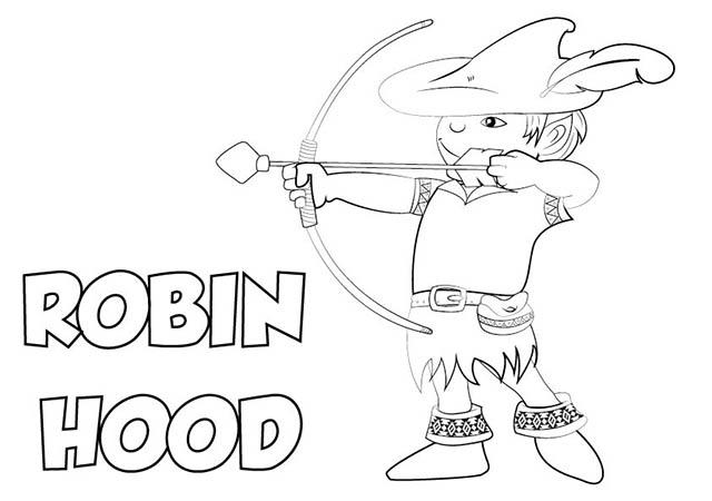 Colorear Dibujo Robin Hood para imprimir ⋆ Colorear e Imprimir
