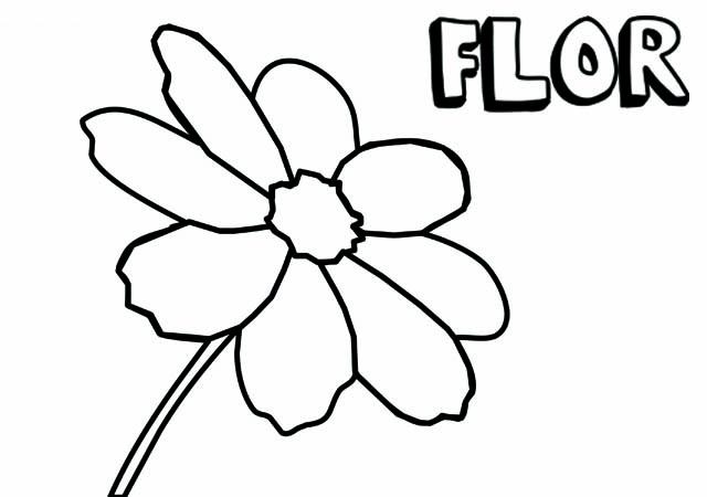 Dibujo Flor Para Imprimir Y Colorear