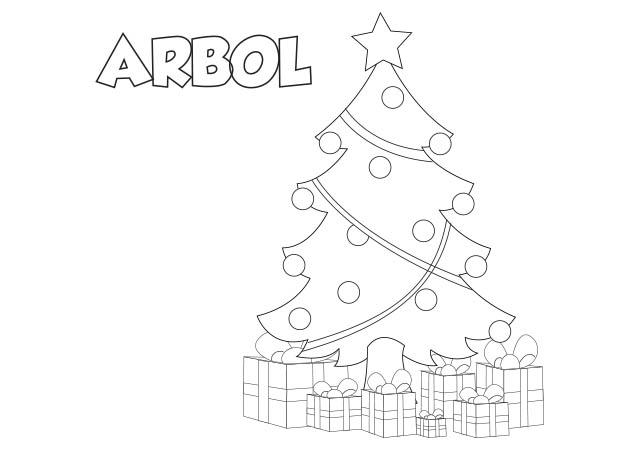 Dibujo De árbol De Navidad Para Imprimir Y Colorear