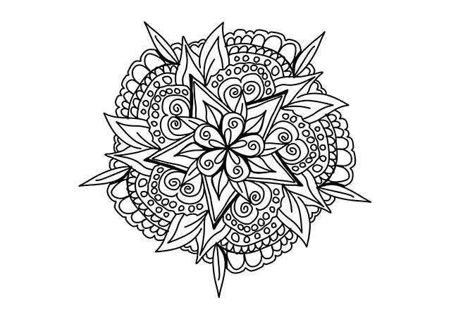 Dibujo colorear MANDALA3