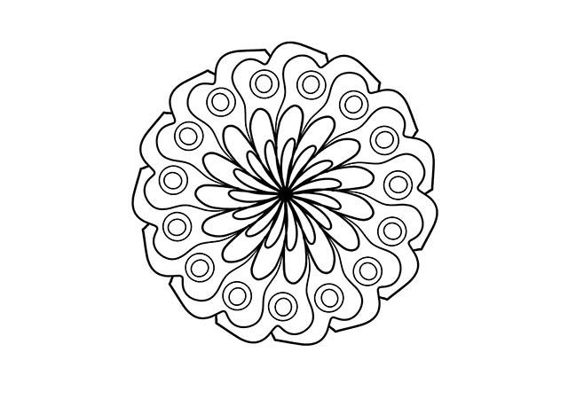 Dibujo Mandala Tipo 4 Para Imprimir Y Colorear