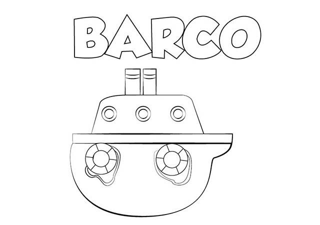 Dibujo Barco Para Imprimir Y Colorear