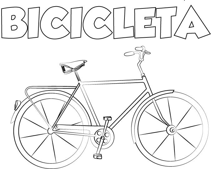 dibujo colorear bicicleta