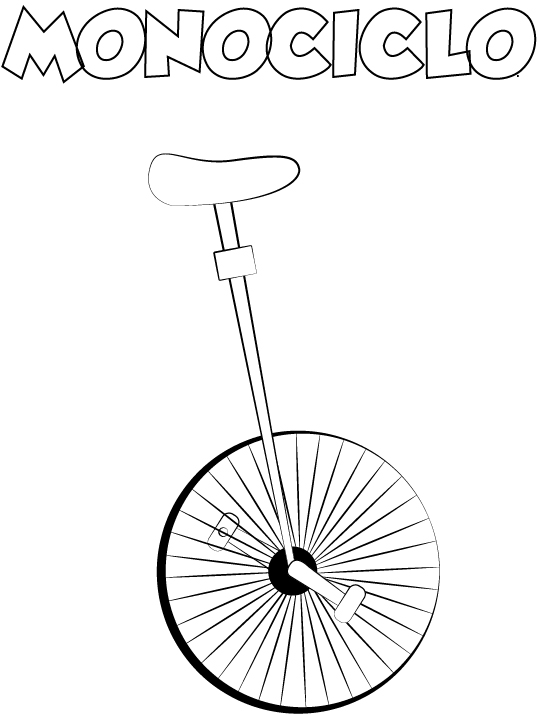 dibujo colorear monociclo para amiga